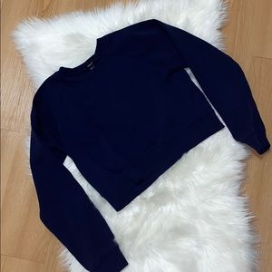 ✨5/$25✨Forever 21 Navy Blue Cropped Sweatshirt